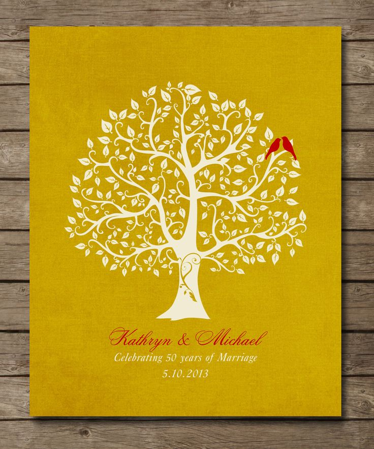 50th Wedding Anniversary Tree Gift For Parentsparents Inlaw 8