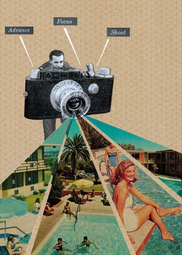 Belgian artist Sammy Slabbinck's surreal collages from Playboy and Paris Match magazines