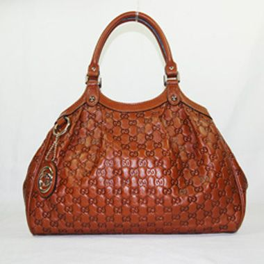 Cheap Gucci Sukey Leather Medium Tote Brown 211944 UK for sale over 70% off, big discount with others at Gucci outlet store online.