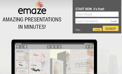 Emaze - Diseña y publica presentaciones en online.  Alternativa online a Prezi / powerpoint