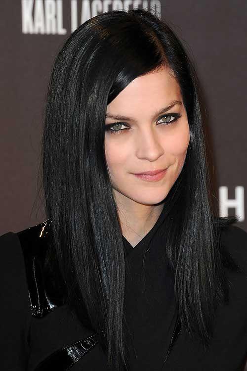 20 Uzun Siyah Saç Modelleri | En Güzel Saç Modelleri ve Kesimleri