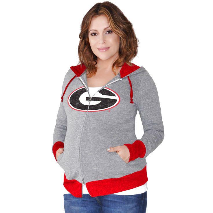 Georgia Bulldogs G-III Sports by Carl Banks Women's Maternity Hat Trick Full-Zip Hoodie - Gray - $47.99