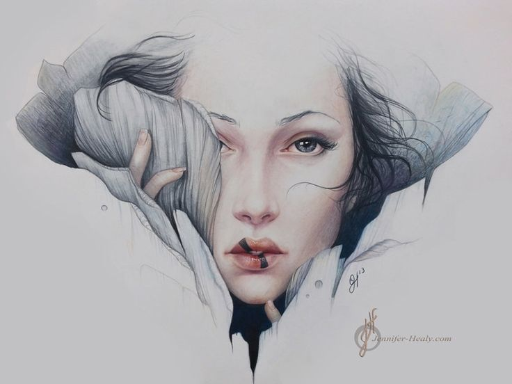 Timeless faces, female ejaculation, enveloped and surrounded by nature. Made with an amazing accuracy. Here's a pencil illustration by Jennifer Healy.