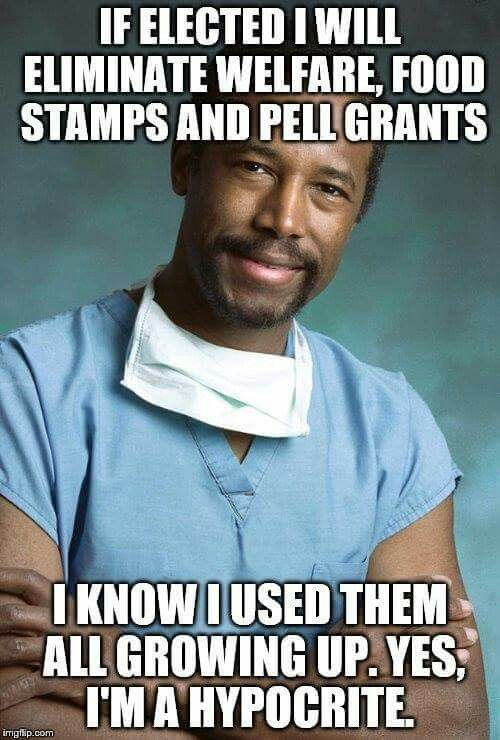 "Ben Carson, MD, said: ""The disintegration of the family unit and the welfare state are enslaving African-Americans and ruining their futures.""He is a idiot and it shows. There are as many whites on welfare if not more!"