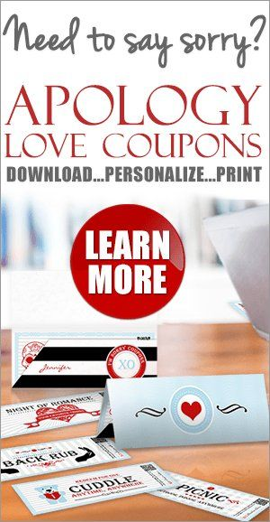 Love Coupons to Say Sorry | Apology Gift Idea #sorrygift #apologygift #sorry #apology #gift