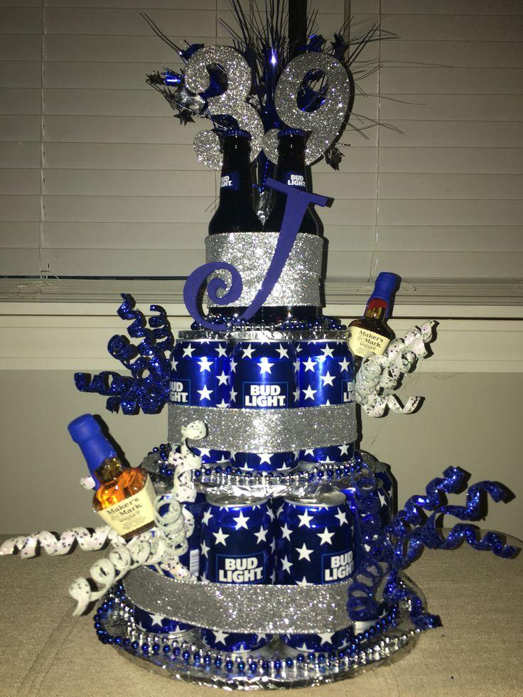 Bud light beer cake, retirement cake