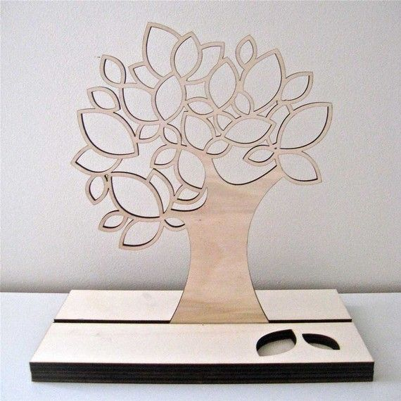 laser cut jewelry tree on etsy