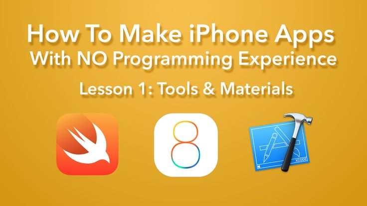 How To Make iPhone Apps with NO Programming Experience! Lesson 1: Tools and Materials This lesson is an orientation of what you need to start making apps and...
