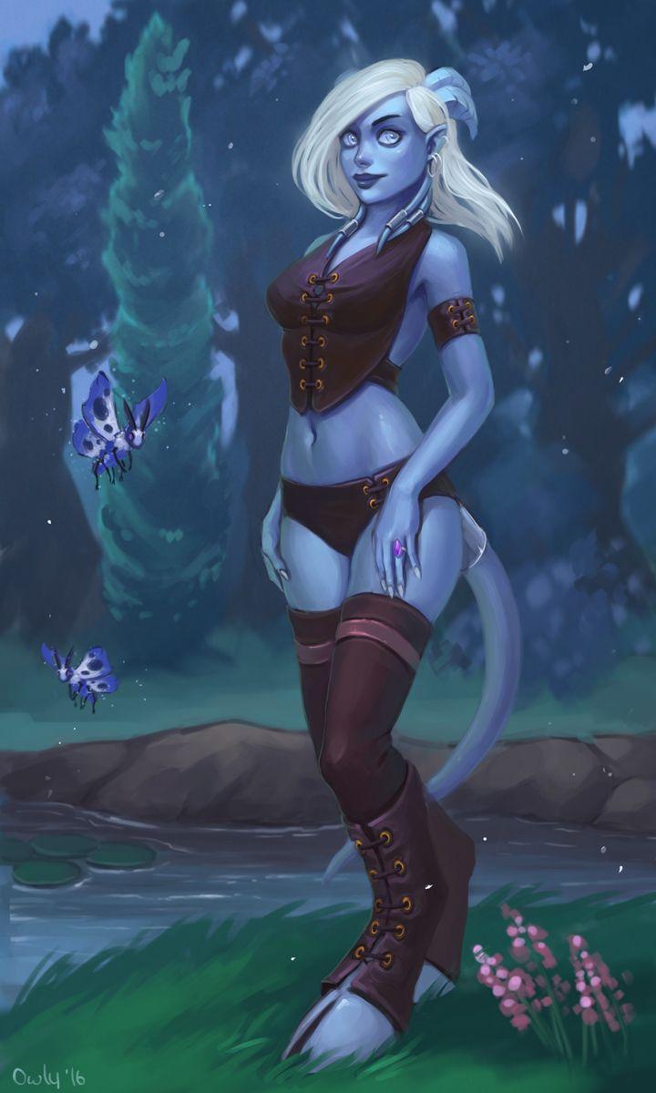 Draenei from World of WarCraft - Illustration de Irina Vostrikova