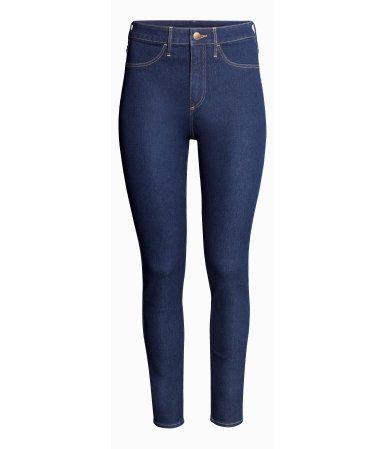 Skinny High Ankle Jeans | Dunkelblau | Damen | H&M DE