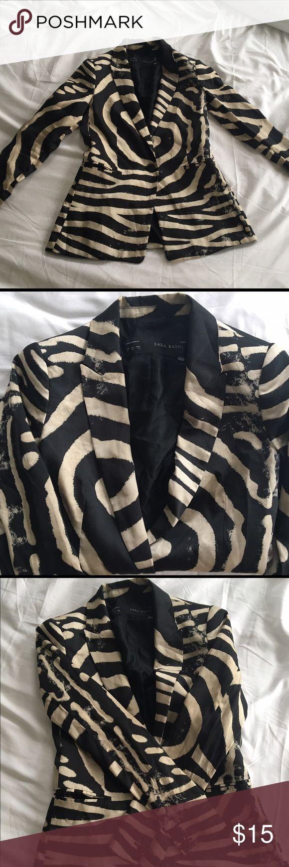 Zara zebra print blazer Super stylish zebra print blazer. Fits snug Zara Jackets & Coats Blazers