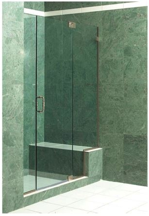 semi frameless shower enclosure a great option for the framless look without the wide