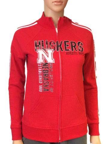 Nebraska Cornhuskers Blue 84 Women Red Fleece Lined Zip-Up Track Jacket