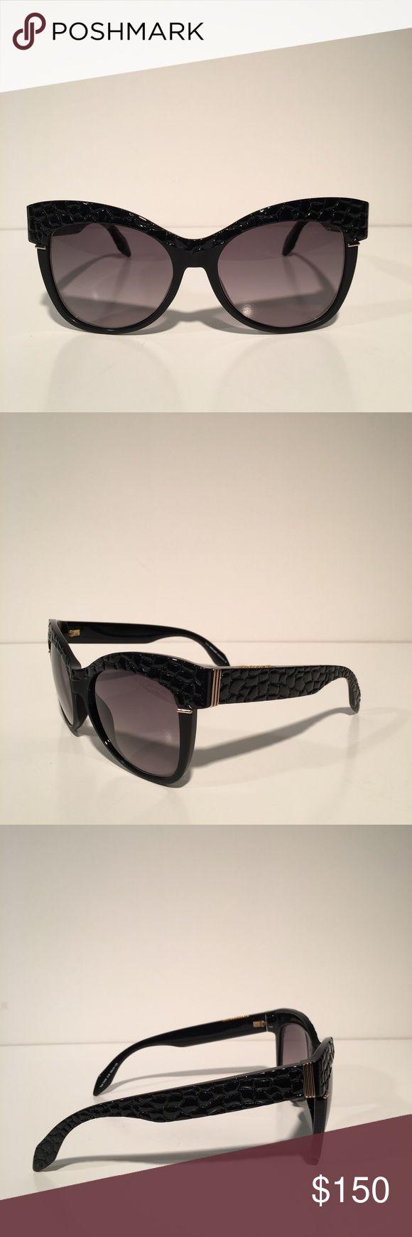 Roberto Cavalli Black Wayfarer Sunglasses Brand new with box and cloth. Made in Italy. Roberto Cavalli Accessories Sunglasses