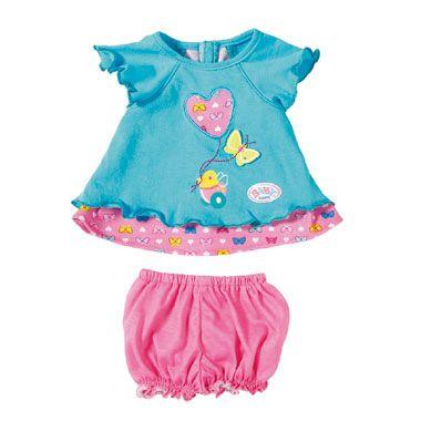BABY born poppenjurkje vlinders  Wat ziet BABY born er schattig uit in haar vrolijke jurkje met vlinderprint. Maak haar outfit helemaal compleet met tiara en bijpassende schoentjes.  EUR 12.99  Meer informatie