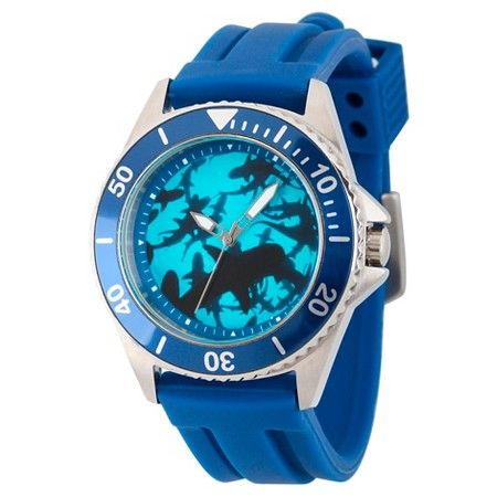 Men's Discovery Channel Shark Week Honor Stainless Steel Watch - Blue : Target