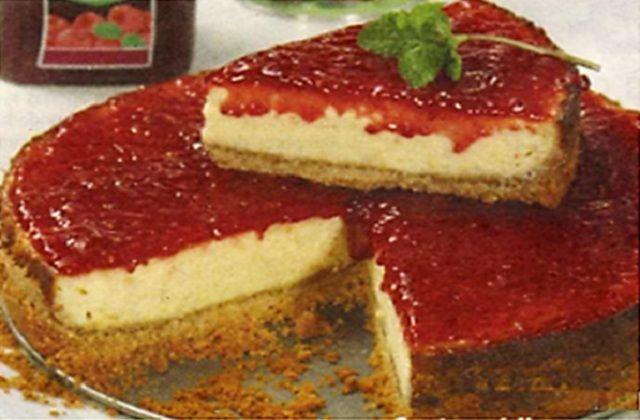 Receita de Cheesecake de Framboesa do Chefe Ermida   Doces Regionais