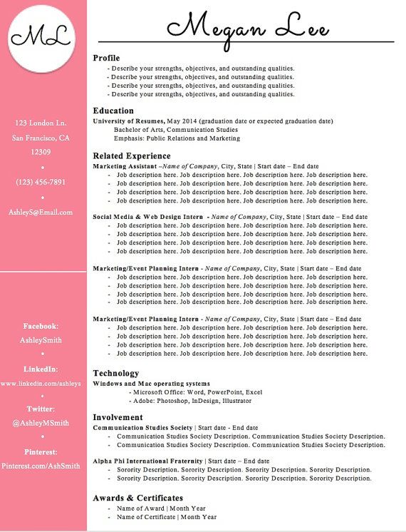 13 best resumes images on Pinterest Resume templates, Sample - winning resume templates
