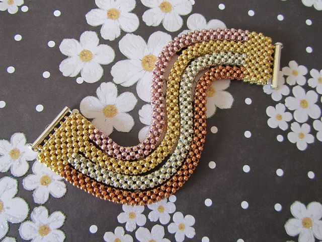 CRAW'tallics (one) by Beadwork by Sian, via Flickr