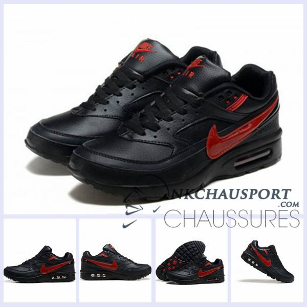 Nike Air Max BW | Meilleur Chaussures Running Homme Noir Rouge 01