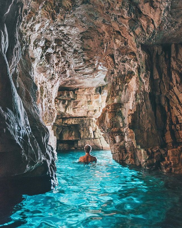 Swimming through the blue caves of Croatia - @shareistria #shareistria