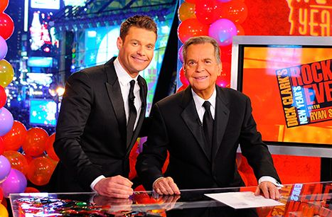 Ryan Seacrest and Dick Clark attend Dick Clark's New Year's Rockin' Eve with Ryan Seacrest 2011.