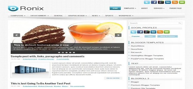 Ronix Blogger Template - Best Blogger Templates | Premium Wordpress | New Blogger Themes