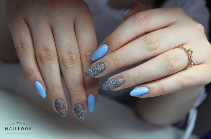 www.naillook.pl Instagram: nail_look_eliza #paznokcie #nail #nails #longnails #babyblue #sugareffect #nail #nails #blue #nailart #mani #naillook