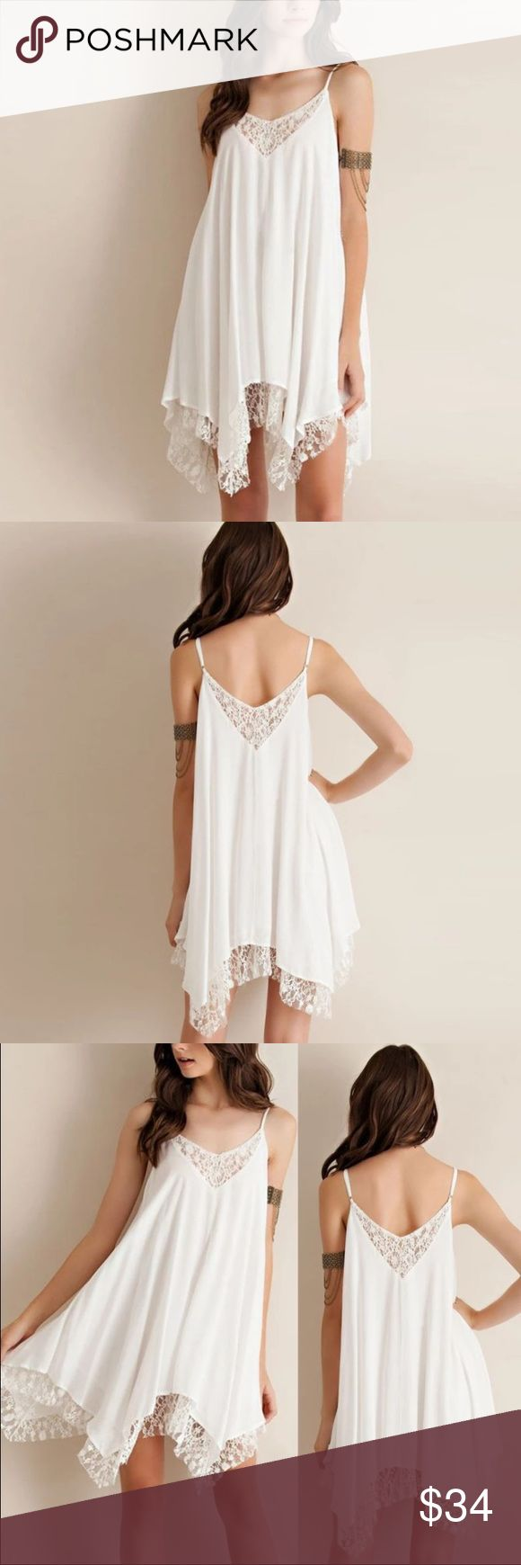 Summer Lace Chiffon Dress NWT in original packaging. This lightweight dress is a gorgeous addition to any summer wardrobe. Dress up for a day on the town, or wear as a beach swim suit cover-up! It's versatile and totally chíc! Dresses Mini