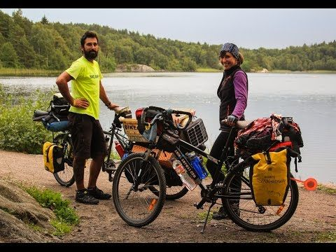 fully loaded bicycle touring equipment, gear & kit - YouTube