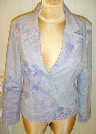 Kup mój przedmiot na #vintedpl http://www.vinted.pl/damska-odziez/marynarki-zakiety-blezery/11511965-marynarka-w-kwiaty-w-wrzosowych-odcieniach