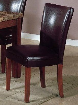 gg baxton studio 5 piece modern dining set 2. set of 2 soho collection brown leatherette parsons dining chair/chairs gg baxton studio 5 piece modern e