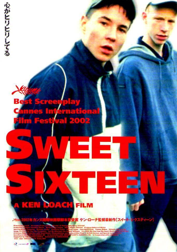 Sweet Sixteen | British Cinema, Ken Loach, Martin Compston, William Ruane |  2002 original print | Japanese chirashi film poster in 2020 | Sweet sixteen,  Film posters, Film