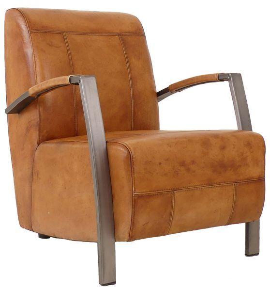 Craft fauteuil cognac