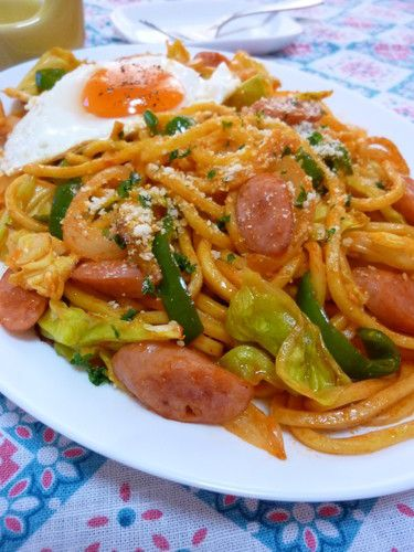 ✤✤ Napolitan-style Yakisoba Noodles ✤✤