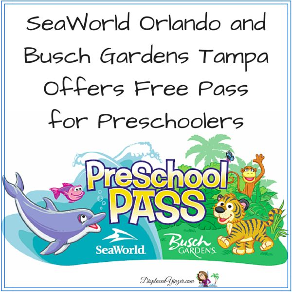 Children Five And Younger Can Explore Seaworld Orlando And Busch Gardens Tampa For Free