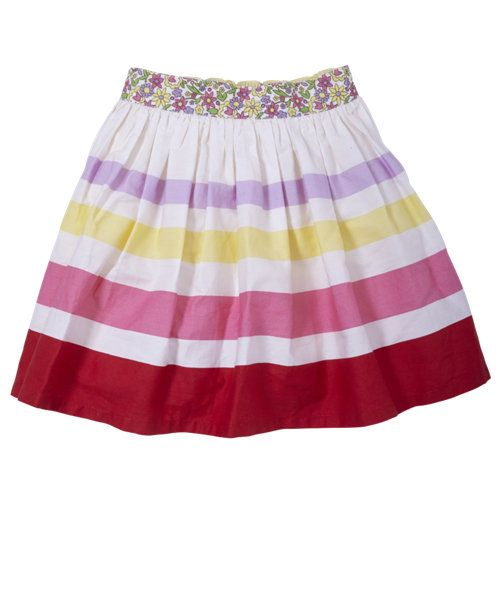 Little Bird by Jools Stripe Canvas Skirt - dresses & skirts - Mothercare