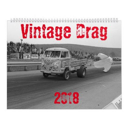 #2018 Vintage Drag Racing Calendar - #office #gifts #giftideas #business