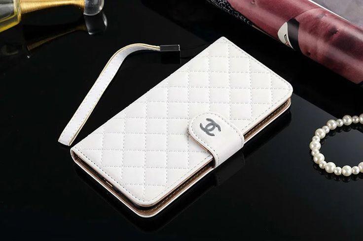 Designer Leather Galaxy S7 Case Wallet White