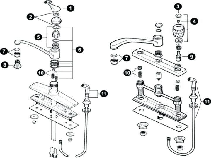 peerless kitchen faucet parts diagram