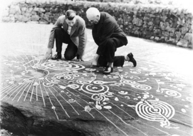 The Cochno Stone bears what is considered to be the finest example of Bronze Age 'cup and ring' carvings in Europe. Picture: Contributed