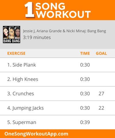 Bang Bang One Song Workout #exercise #fitness