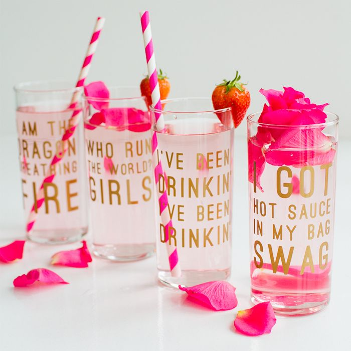DIY These Flawless Beyoncé Lyric Glasses for Your Bestie's Bachelorette Party