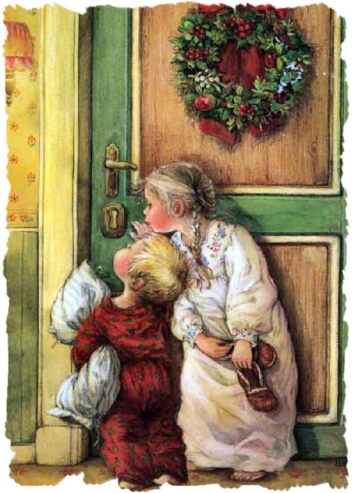Lisi MartinChristmas Cards, Artists, Vintage Christmas, Vintagelisi Martin, Children, Carl Larsson, Christmas, Christmas Mornings, Christmas Ideas
