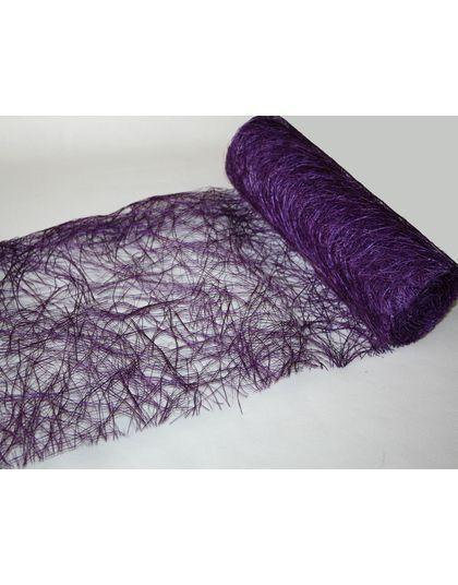 décoration violet | Décoration mariage : centre de table abaca violet