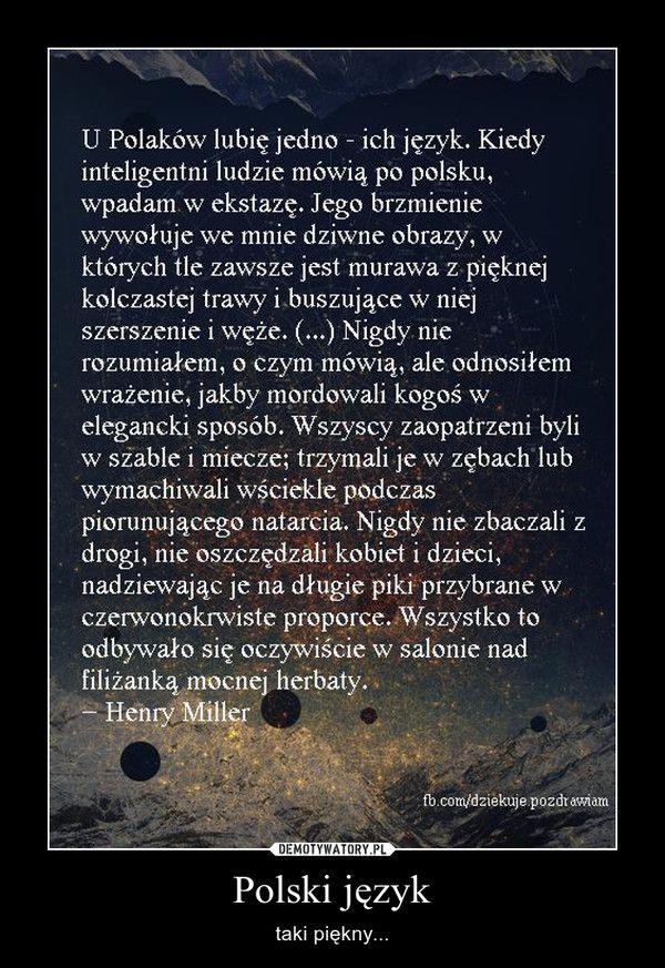 Polski język – taki piękny...