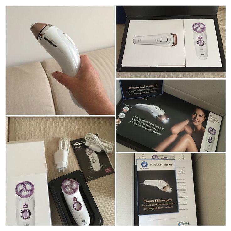 Sto testando per # desiderimagazine il sistema di depilazione a luce pulsata #braun#silkexpert