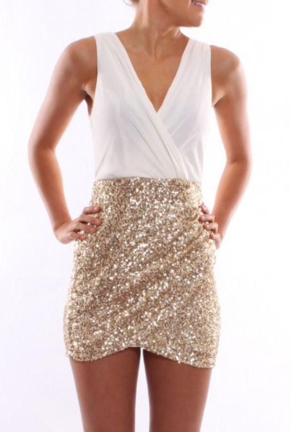 Midnight Shimmer Dress AUD $59 SHOP: http://www.jeanjail.com.au/midnight-shimmer-white-4.html