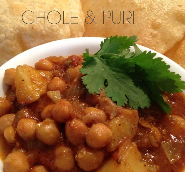 Chole & Puri, found on http://indianmomdotcom.blogspot.com/2013/06/a-quick-easy-dinner.html