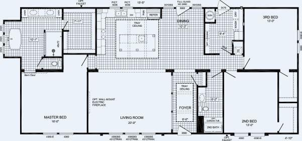 800 The Churchill By Cavalier Homes Home Alabama Floor
